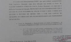 Vereador Del Cavalcante faz indicação para beneficiar trabalhadores da educação