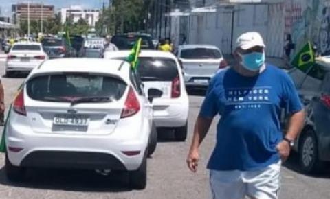 Manifestação em favor de Bolsonaro atrapalha a vacinação em Jaraguá