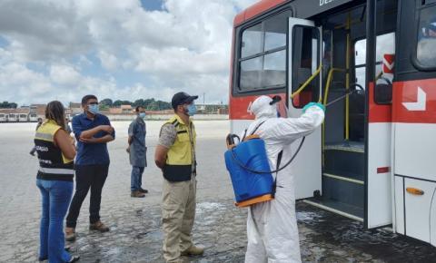 Em Maceió, SMTT reforça fiscalização de medidas sanitárias em ônibus da capital