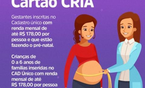 Cartão Cria: Mães devem aguardar novo cronograma de cadastro