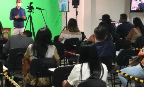 Em Maceió, professores de Campo Alegre participam de formação para gravação de aulas no ensino híbrido