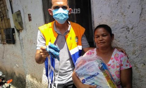 Vacina Solidária: 120 famílias da Favela da Coca-Cola recebem cestas básicas