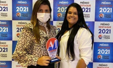 Prefeita Marcela Gomes é agraciada com Prêmio Destaque 2021 por sua gestão em Novo Lino