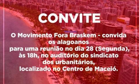 Movimento Fora Braskem promoverá reunião