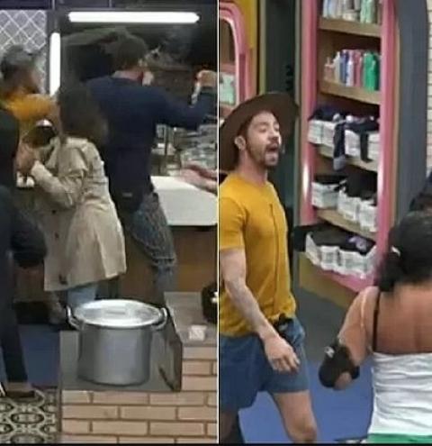 Fãs de 'A Fazenda' apontam agressão de Dynho durante discussão com Rico